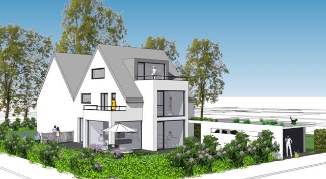 Architekturbüro_Roland Rombach_Kirchzarten_Neubau Doppelhaus